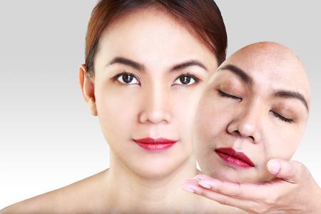 Asian woman showing face photo