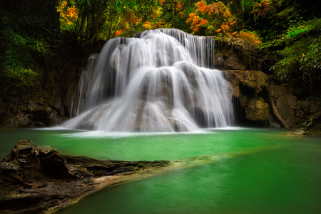 Thailand waterfall in Kanjanaburi  Huay Mae Kamin  photo