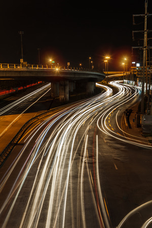 motorway: The light trails on the street
