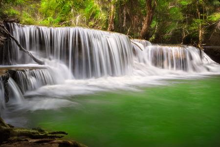 waterscape: Thailand waterfall in Kanjanaburi  Huay Mae Kamin