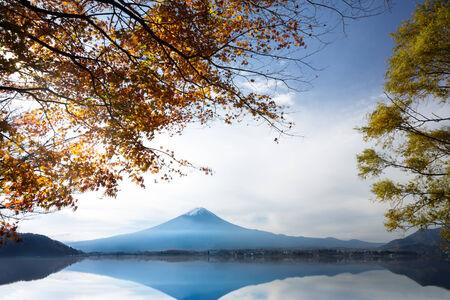 Mt. Fuji in autumn photo