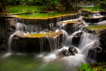 kamin: Huay Mae Kamin, Thailand waterfall in Kanjanaburi Stock Photo