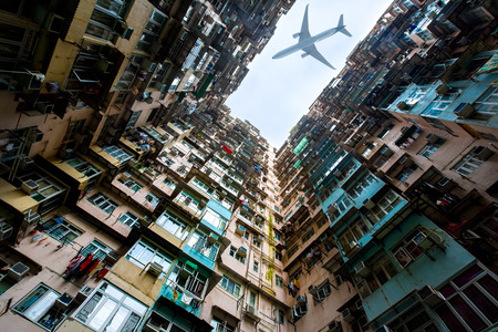 Old apartment in hong kong photo