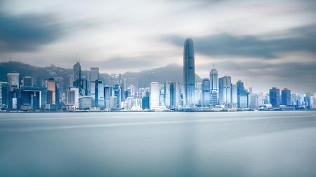 hong kong city: Hong Kong harbour Stock Photo