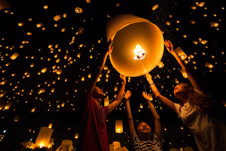 traditional festivals: Thai Stock Photo