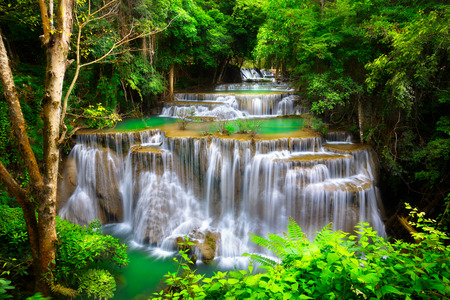 nature wallpaper: Huay Mae Kamin Thailand waterfall in Kanjanaburi