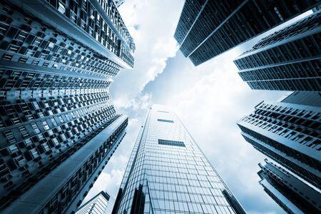 low glass: modern buildings in Hong Kong