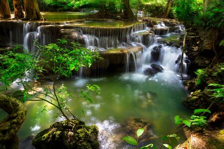 stream: Mountain stream, Huay Mae waterfall, Kanjanaburi Thailand