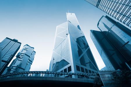 중앙 홍콩에서 현대 오피스 빌딩 스톡 콘텐츠