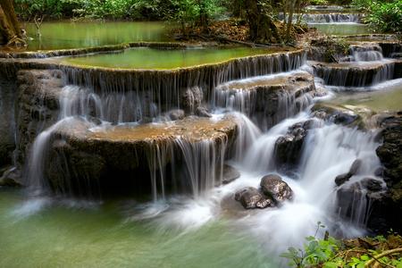 waterfall river: Mountain stream, Huay Mae waterfall, Kanjanaburi Thailand