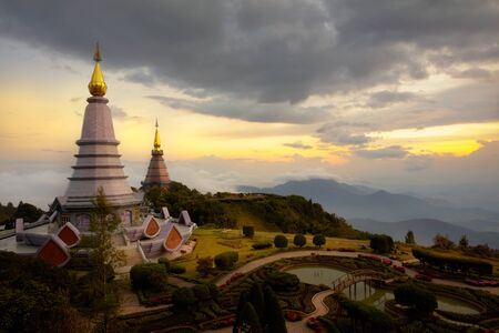 relics: The Great Holy Relics Pagoda Nabhapolbhumisiri, Chiang mai, Thailand Stock Photo