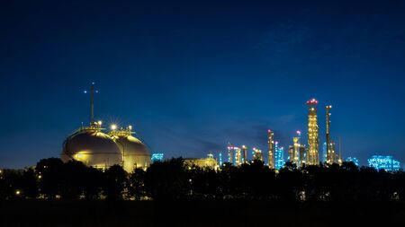 storage tank: oil refinery industry with oil storage tank