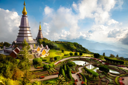 chiang mai: The Great Holy Relics Pagoda Nabhapolbhumisiri, Chiang mai, Thailand Stock Photo
