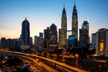 city traffic: Kuala lumper skyline in the morning, Malaysia