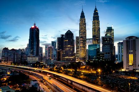 corporate building: Kuala lumper skyline in the morning, Malaysia