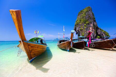 thailand beach: Rairay beach, Krabi Thailand Stock Photo
