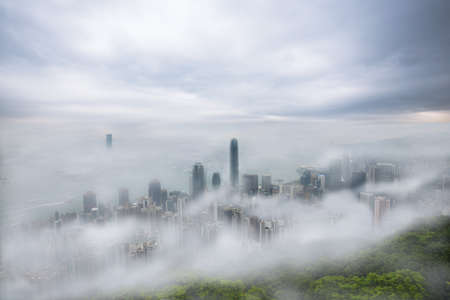 foggy: Cloudy and foggy hong kong, Victorial Peak