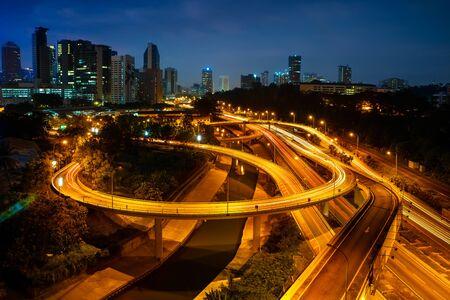 lumpur: Highway and main traffic in Kuala lumpur, Malaysia