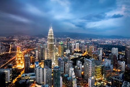 Kuala lumpur horizon au crépuscule Banque d'images - 55488404