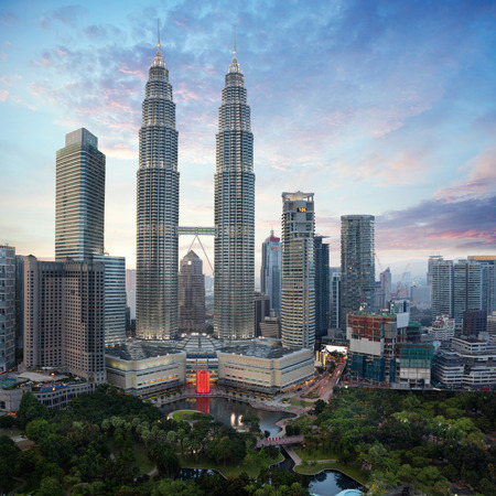 Kuala lumpur city skyline in evening, Malaysia cityscape, Kuala lumpur is capital city of Malaysia