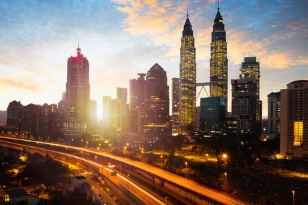 Kuala lumpur skyline in the morning, Malaysia Stock Photo