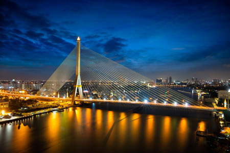 Rama 8 bridge Chao phraya river, Bangkok Thailand