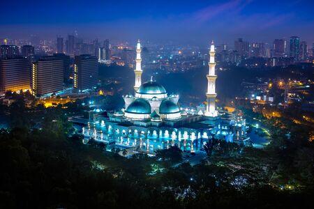 Masjid Wilayah Persekutuan with kuala lumpur city in background