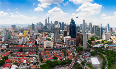 Kuala Lumpur skyline, Malaisie Banque d'images - 64863555