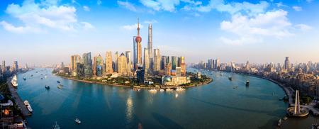 上海のスカイラインのパノラマ ビュー、中国上海