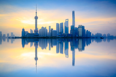 Shanghai skyline in the morning, Shanghai China Stock Photo
