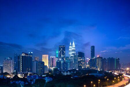Kuala lumpur skyline at dusk, Malaysia cityscape, Malaysia