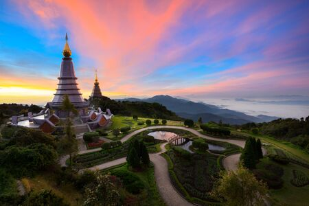 phon: The Great Holy Relics Pagoda Nabhapolbhumisiri, Chiang mai, Thailand Stock Photo