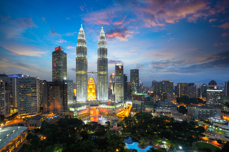 Top view of kuala lumper skyline at twilight Stock fotó