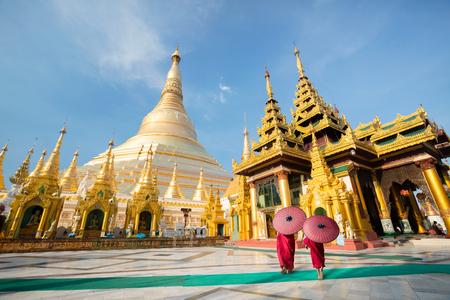 Shwedagon pagoda, Yangon Myanmar Imagens