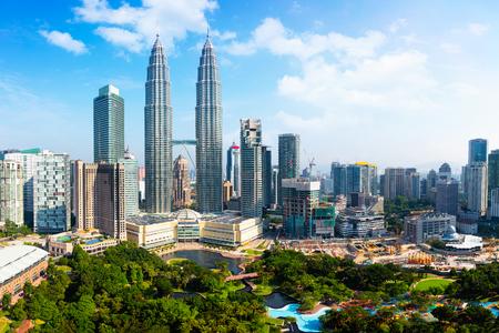 クアラルンプールのスカイライン、マレーシア 写真素材