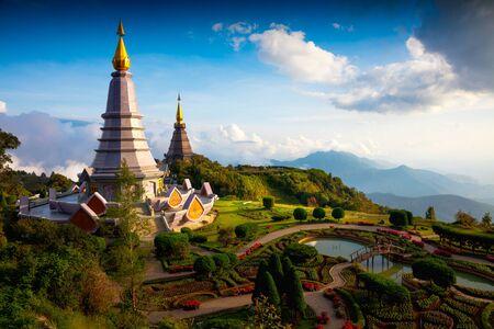 The Great Holy Relics Pagoda Nabhapolbhumisiri, Chiang mai, Thailand Stock Photo