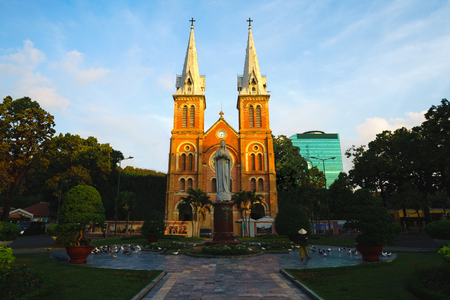 Notre dame cathedral, Ho chi minh city Vietnam