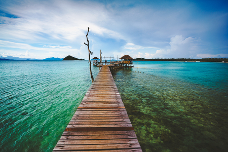 Exotic Paradise, Travel, Tourism and Vacations Concept, Tropical Resort, Mak island (Koh Mak) Trat Thailand