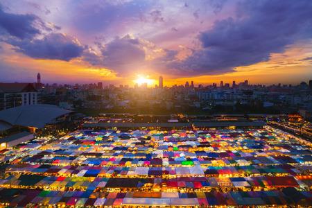 The Train night market Ratchada at Bangkok, Thailand