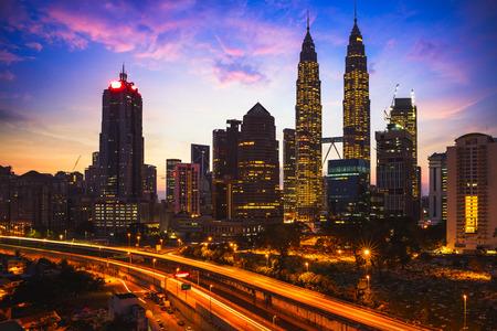Kuala lumpur skyline in the morning, Malaysia Фото со стока