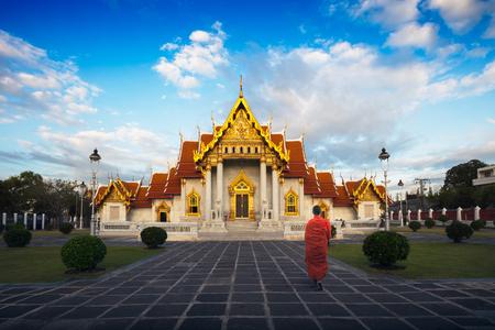 The Marble Temple, Wat Benchamabopitr Dusitvanaram the emerald temple in Bangkok Thailand