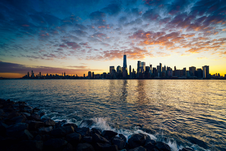 New york city skyline, New york USA Фото со стока