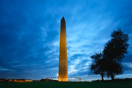 Washington monument at sunrise, Washington dc USA