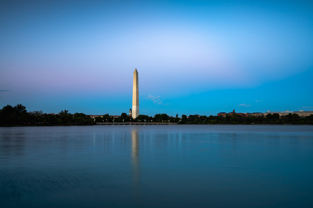 Washington Monument at dusk, Washington DC USA