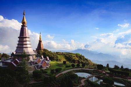 The Great Holy Relics Pagoda Nabhapolbhumisiri, Chiang mai, Thailand Фото со стока - 115587568