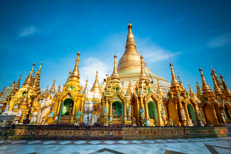 Shwedagon pagoda, Yangon Myanmar Stock Photo