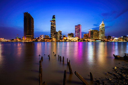 Ho Chi Minh City skyline and the Saigon River, Vietnam Фото со стока - 115989777