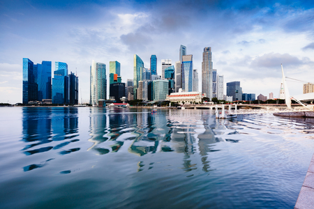 Singapore city skyline Фото со стока - 115989807