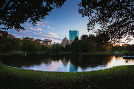 Boston public garden, Boston Massachusetts USA