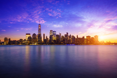 Manhattan skyline, New york USA